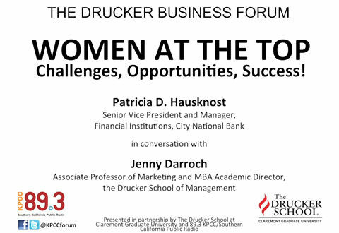 Drucker Business Forum - Women at the Top