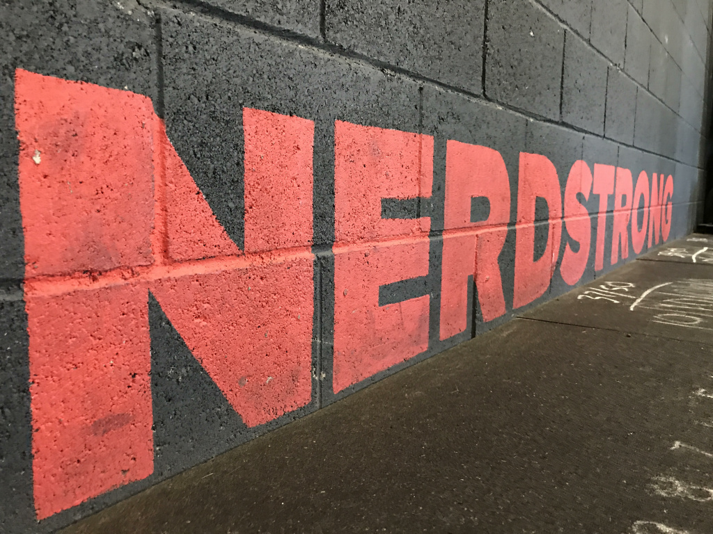 The painted wall at Nerdstrong