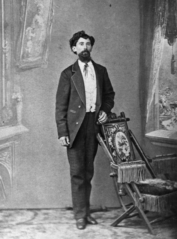 Circa 1880: Portrait of Pedro Lugo, taken at F. Parker's Photographic Parlor in the Downey Block, #65 Main Street in downtown Los Angeles