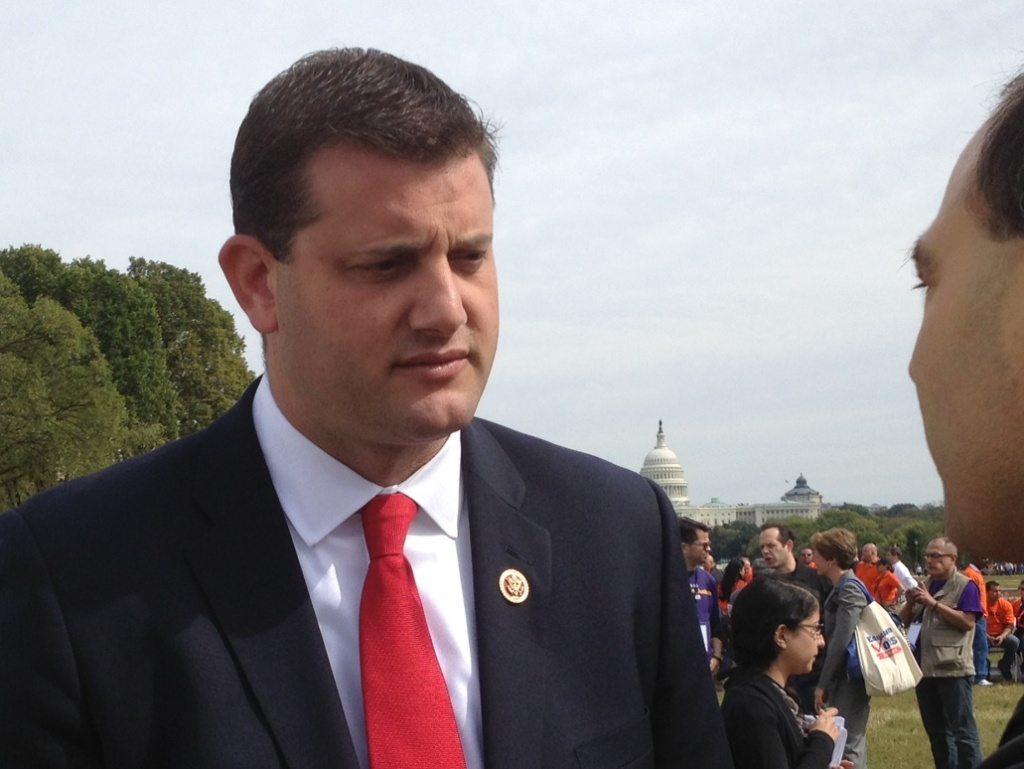 Rep. David Valadao of California (R-Hanford) at a recent immigration rally in Washington, D.C. Valadao is one of three House Republicans so far who have agreed to co-sponsor a Democratic-backed House immigration reform bill.
