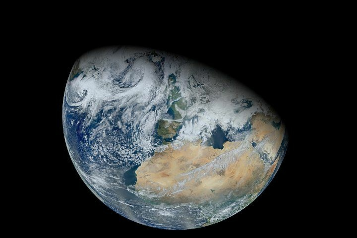 Over a period of six orbits on on February 3, 2012, the recently launched Suomi NPP satellite provided the Visible Infrared Imaging Radiometer Suite (VIIRS) instrument enough time to gather the pixels for this synthesized view of Earth showing North Africa and southwestern Europe.