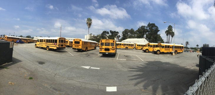 Hundreds Of New Cars Fill A Gated Parking Lot On The West Los Angeles V.A.  Campus