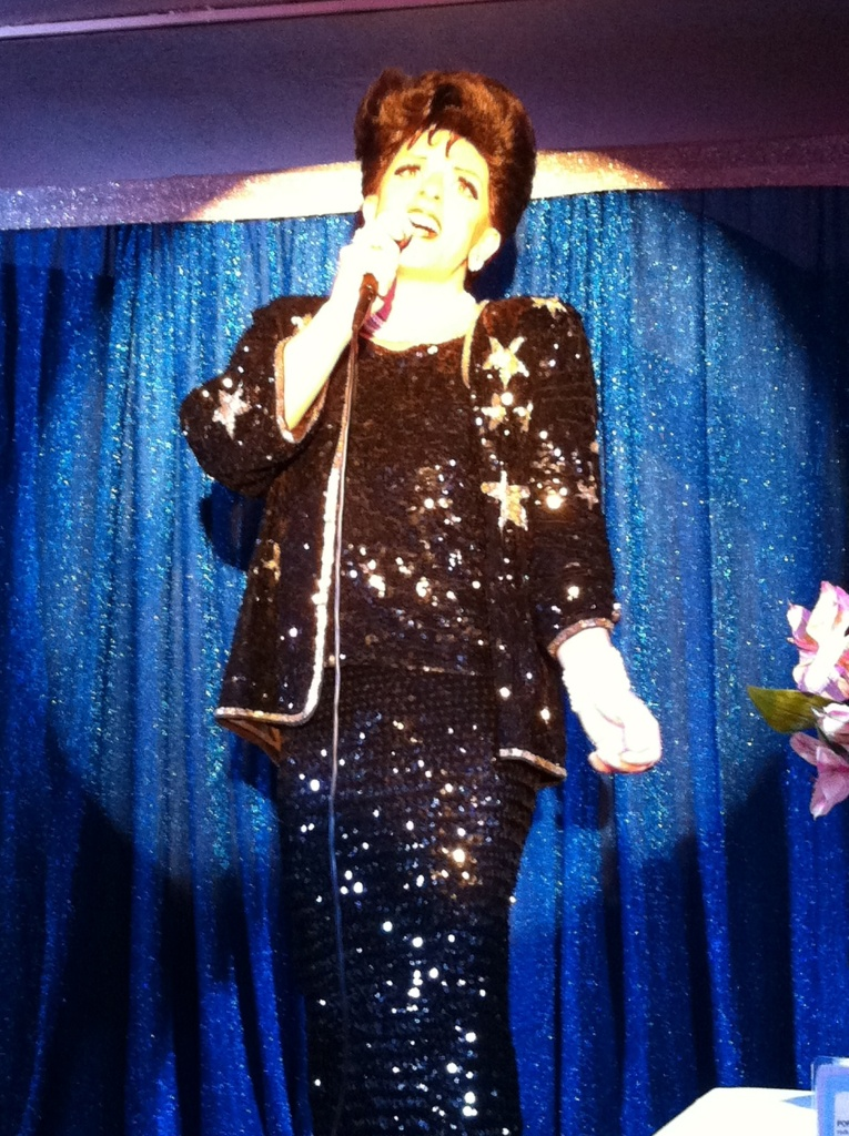 Peter Mac as Judy Garland at the French Marketplace in West Hollywood.