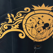 "A logo featuring Mickey Mouse is seen on the ""Disney Fantasy"" cruise ship at the Meyer Werft shipyards before the ship's departure on January 20, 2012 in Papenburg, Germany."