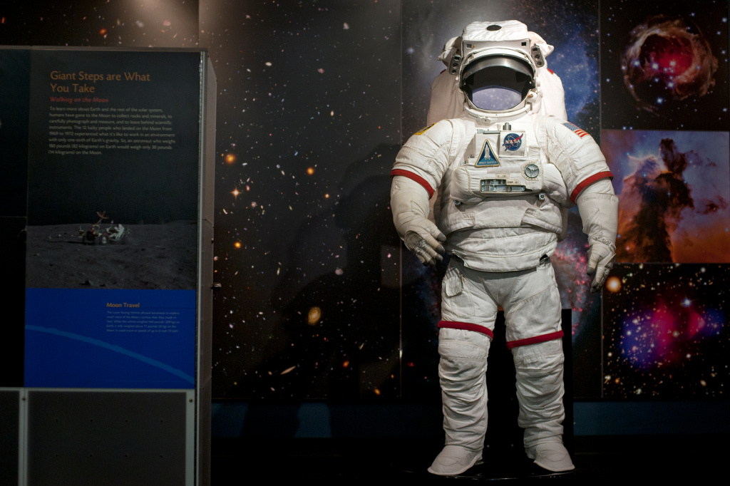 A space suit designed and used by NASA for testing purposes is on permanent display at the Columbia Memorial Space Center. The space center is featured as one of the best field trip locations for students in Education Week Teacher's online database.