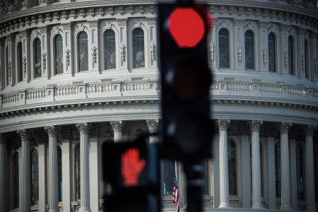 The US Capitol is seen in Washington, DC, December 17, 2018, as the Deadline for lawmakers to agree on a new spending deal to avert shutdown on Dec 22 approaches.