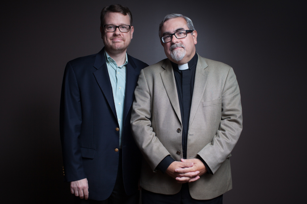 Rev. Dr. Guy Erwin, the first openly gay Lutheran Pastor, and his partner Rob Flynn.