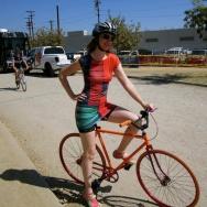 Schick is both a biker and fashion designer.