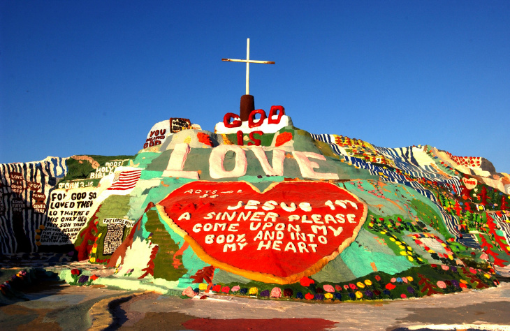Salvation Mountain Declared National Folk Art Shrine
