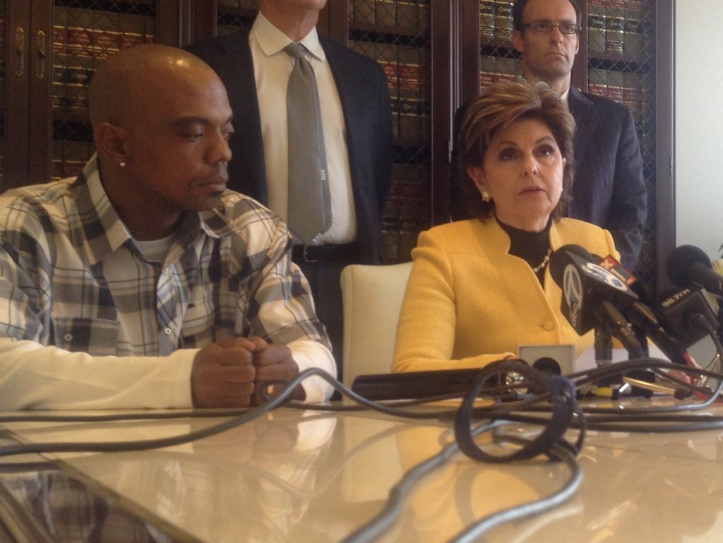 Bret Phillips (left) has filed a lawsuit against the L.A. County Sheriff's Department for a 2009 beating by deputies inside Men's Central Jail. Two deputies have recently been indicted for the beating. His attorney Gloria Allred (right) alleges the LASD knew Phillips had serious mental health issues but ignored them, which resulted in the assault.