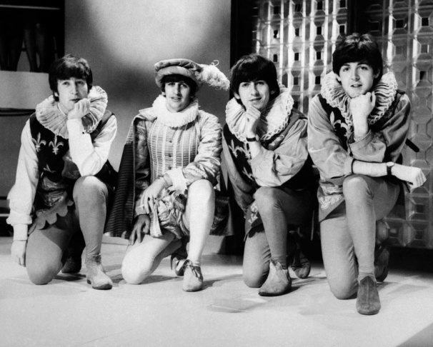 This file picture shows The Beatles (L-R), John Lennon, Paul McCartney, Ringo Starr and George Harrison in 1964, in London. The Beatles' debut tune that launched Britain into the Swinging Sixties and helped to ignite a worldwide obsession for the four-man band from Liverpool celebrates its 50th birthday on October 5, 2012. Even though it only peaked at number 17 on the British charts, the single 'Love Me Do' was not only the group's first record but also their first hit.