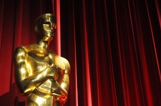 An Oscars statue is seen before the start of the 83rd Annual Academy Awards Nominations Announcement.