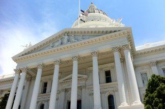 The California State Capitol building in Sacramento. A slew of Republican-sponsored bills were stalled this week.