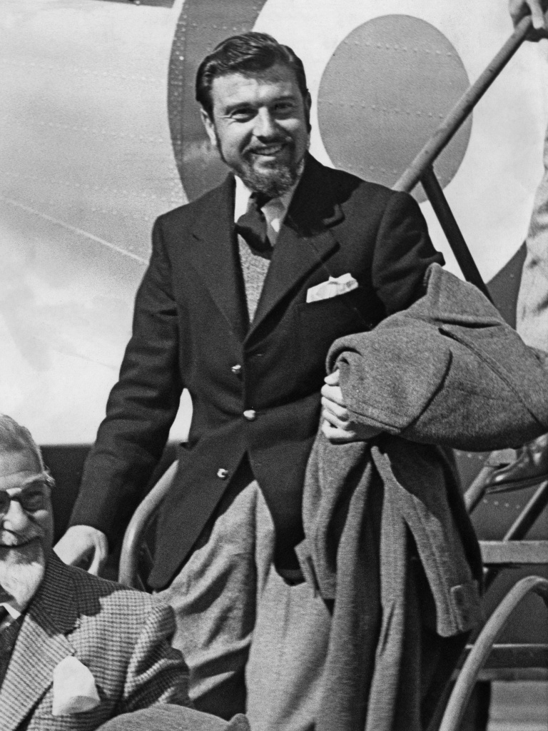 British spy George Blake arrives at RAF Abingdon in Oxfordshire, England, after his release from North Korea in 1953. Blake became a double agent in service of the KGB.