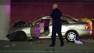 Detective Mike Delgadillo, 57, died of injuries he suffered when his car slammed into a pillar under the Costa Mesa 55 Freeway.
