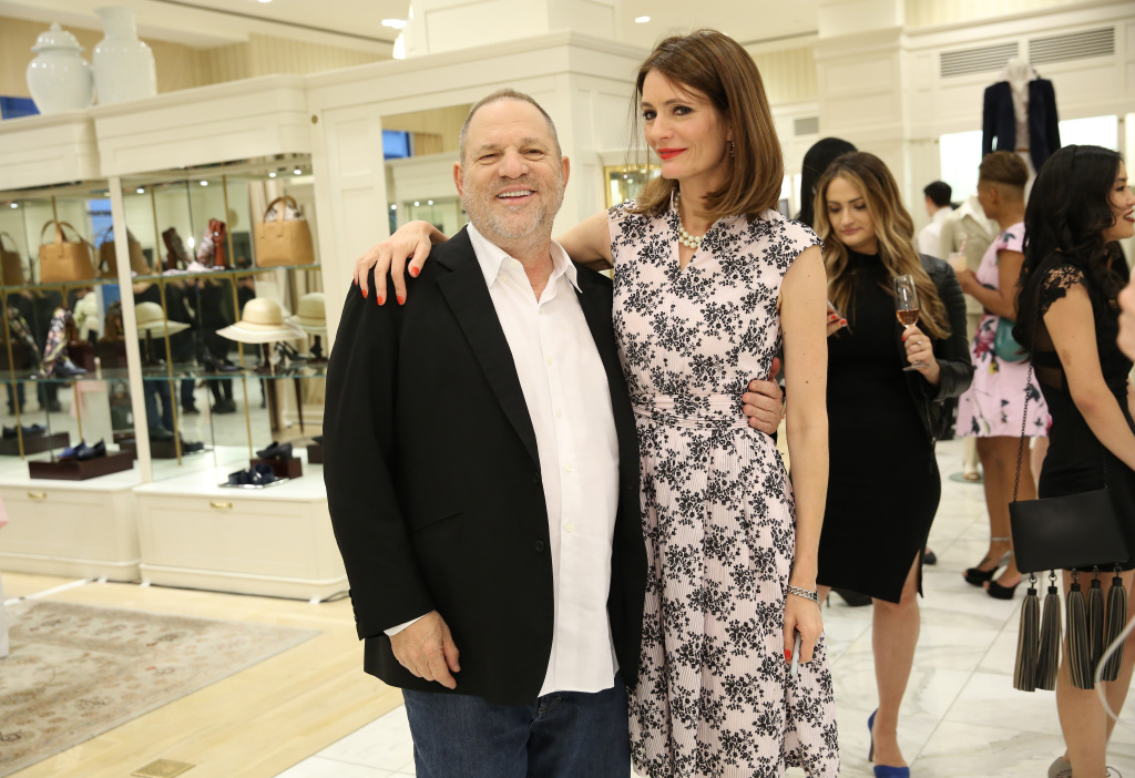 Film producer Harvey Weinstein and author Plum Sykes attend a book launch party Sykes' book on May 9, 2017 in New York City.
