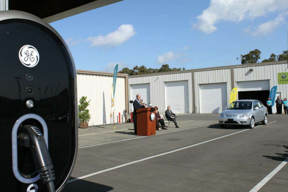 Los Angeles-based CODA's first all-electric sedans rolled out at its Benicia facility as oil prices strike fear into politicians and consumers alike.
