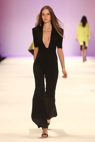 A model walks the runway at the Atil Kutoglu show during MBFWI presented by American Express Fall/Winter 2014 on March 10, 2014 in Istanbul, Turkey.