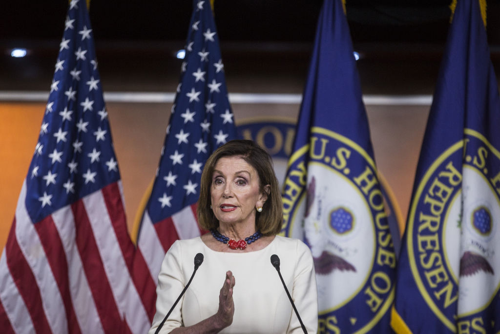 House Speaker Nancy Pelosi (D-CA) speaks during a weekly news conference on Capitol Hill on September 26, 2019 in Washington, DC