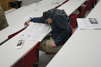 Sleeping in class.