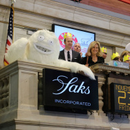 Saks Celebrates 80th Birthday Of Babar At The New York Stock Exchange Closing Bell