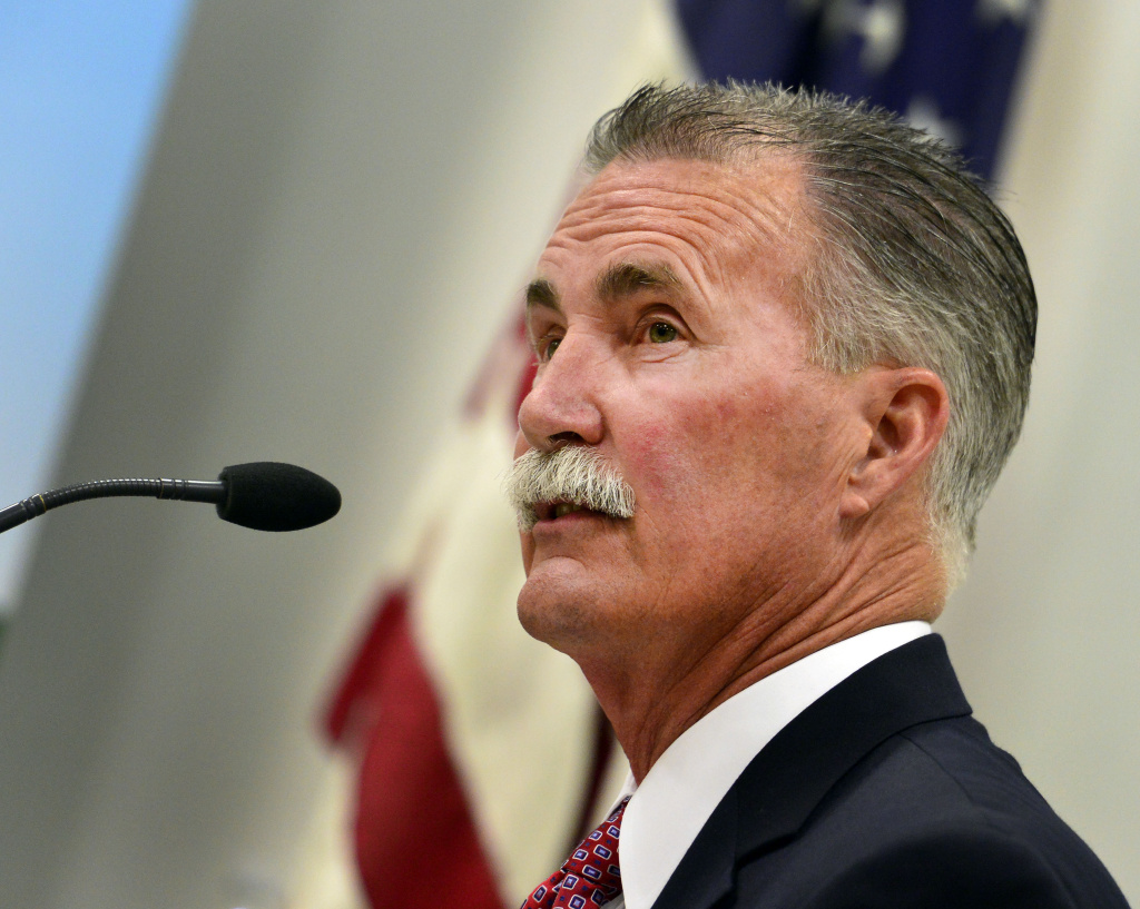 Former Sheriff's Commander Bob Olmsted, a candidate for LA sheriff, says he'd remove