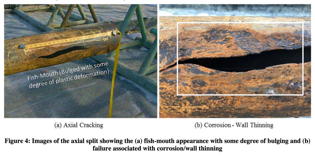 Photos depict a split in the underground gas storage well that broke open at Aliso Canyon Natural Gas Storage Facility in October 2015, forcing thousands of families to evacuate their homes in Porter Ranch and surrounding communities.