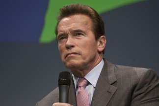 File photo of Arnold Schwarzenegger, governor of the state of California, during a debate at the Climate Summit for Mayors at the Copenhagen City Hall on December 16, 2009.