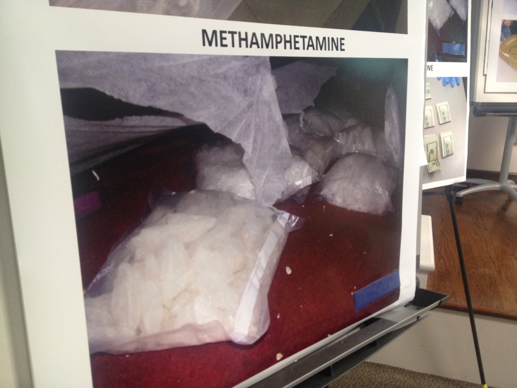 Federal authorities seized 60 lbs of methamphetamine during an 18-month long investigation into a Pasadena street gang accused of selling drugs supplied by the Mexican Sinaloa drug cartel.