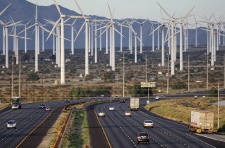 A California wind farm.