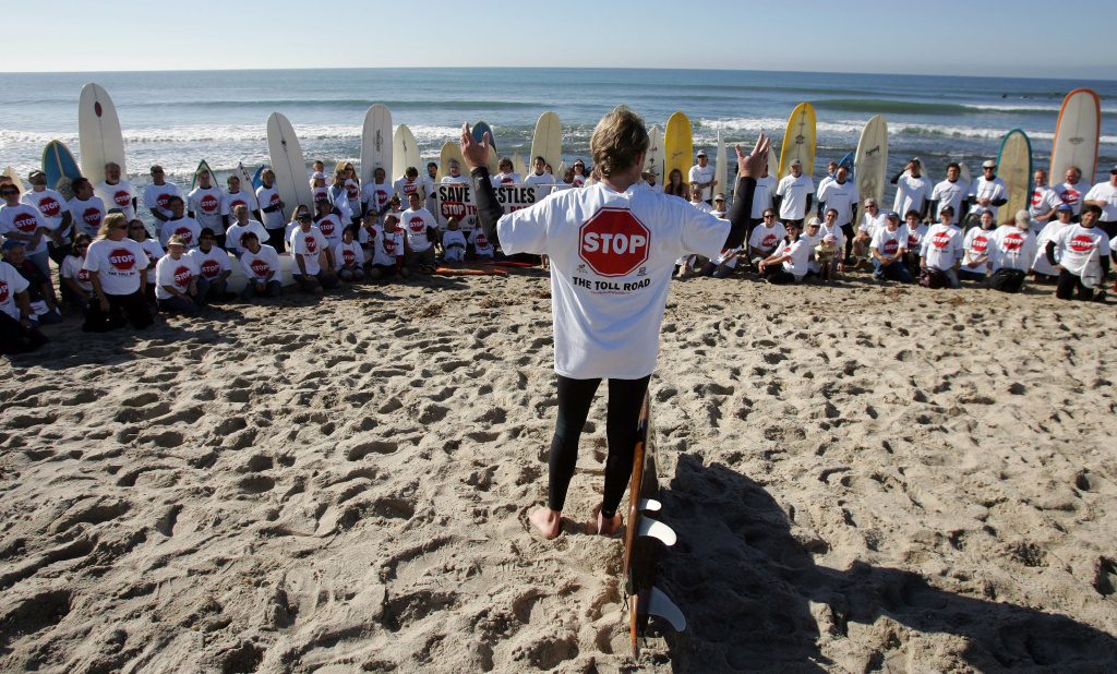 Surfrider Foundation members opposed the proposal to extend the Foothill-South Toll Road (241-South) to California's San Onofre State Beach in 2005. The new toll road proposal wouldn't extend the road that far, but Surfrider activists are wary of it.