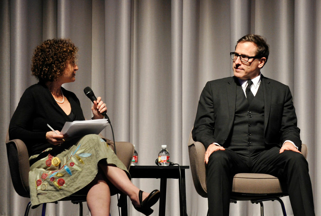 Panelists Alex Cohen and David O. Russell discuss removing the stigma of mental illness at Museum Of Tolerance on February 6, 2013 in Los Angeles, California.