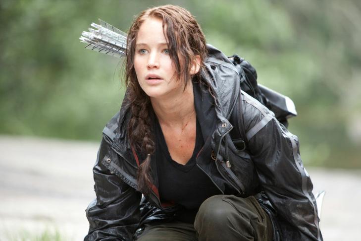 Jennifer Lawrence as Katniss Everdeen in