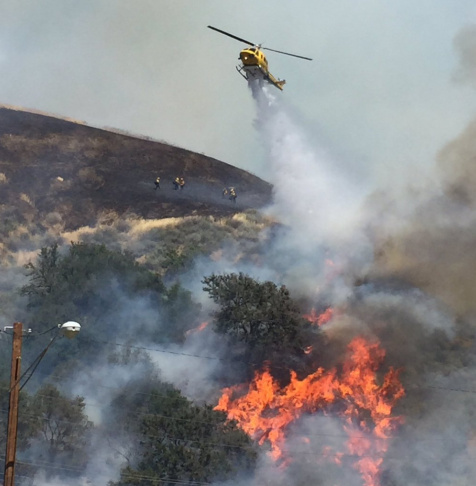 Casitas Fire in Ventura