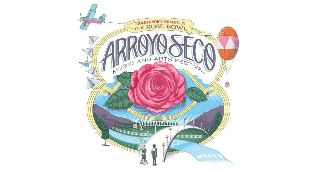 Graphic for upcoming Arroyo Seco Music and Arts Festival, premiering June 2017.