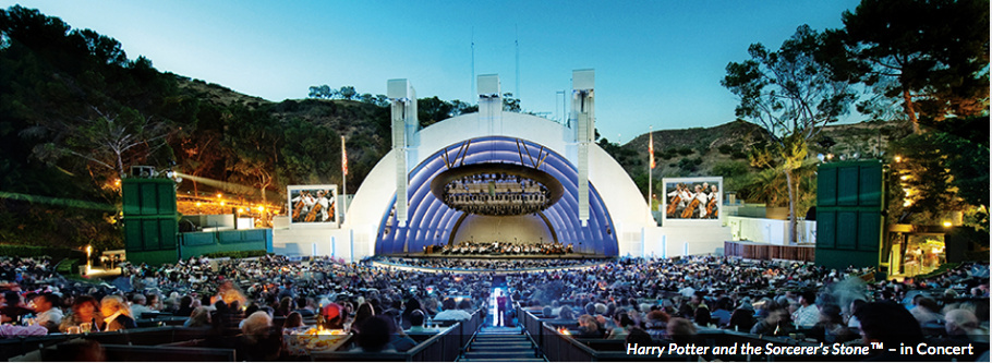 Photo to promote LA Phil performance of Harry Potter score at the Hollywood Bowl.