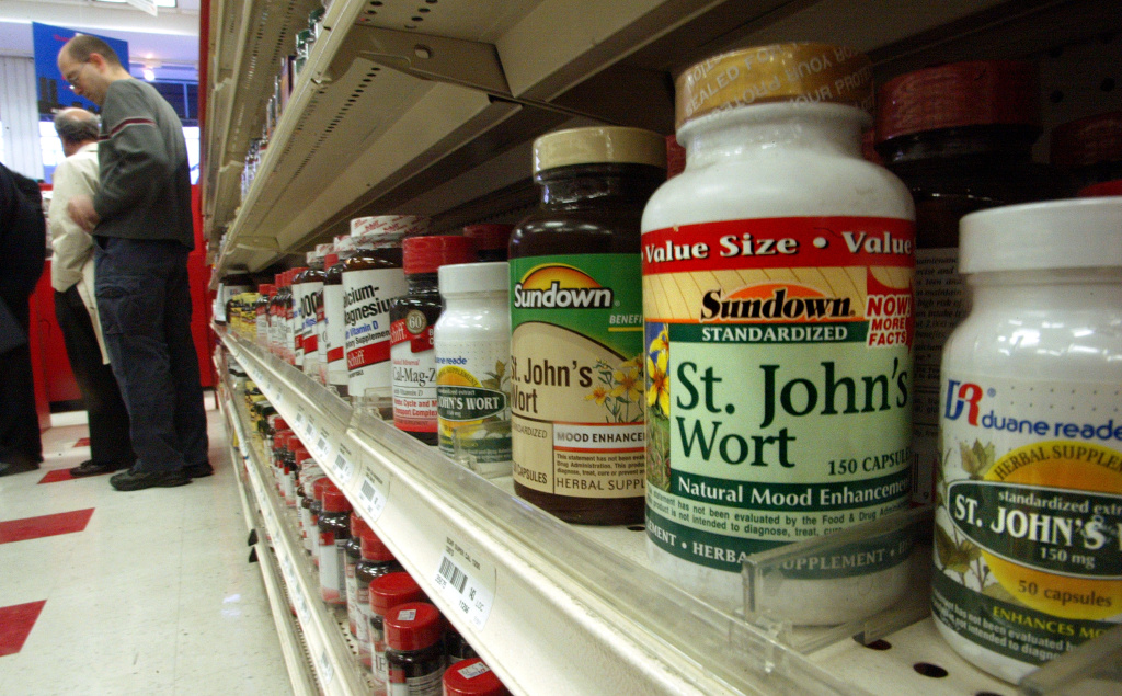 File: Herbal and dietary supplements are seen for sale in a shop May 26, 2010 in New York City. Numerous store brand supplements, including St. John's wort, aren't what their labels claim to be, an ongoing investigation of popular herbal supplements subjected to DNA testing has found.