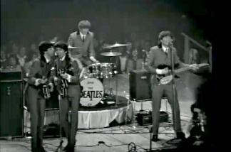 "An image from the film ""The Beatles' First American Concert."""