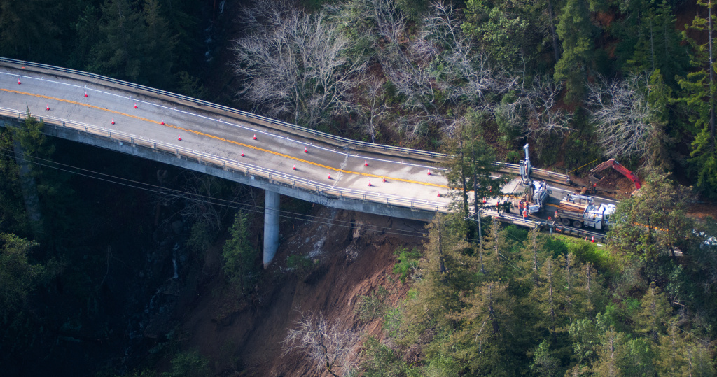 A bridge on Highway 1 in Big Sur has been damaged beyond repair, cutting off the main artery through the Central Coast community.