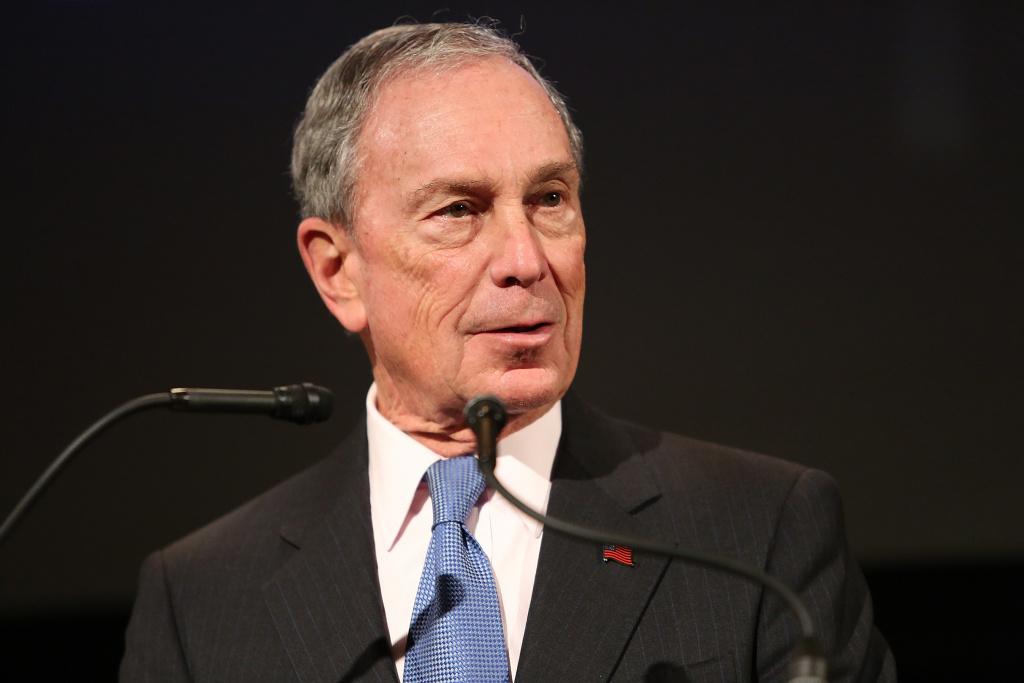 Former Mayor of New York City, Michael Bloomberg, speaks at the