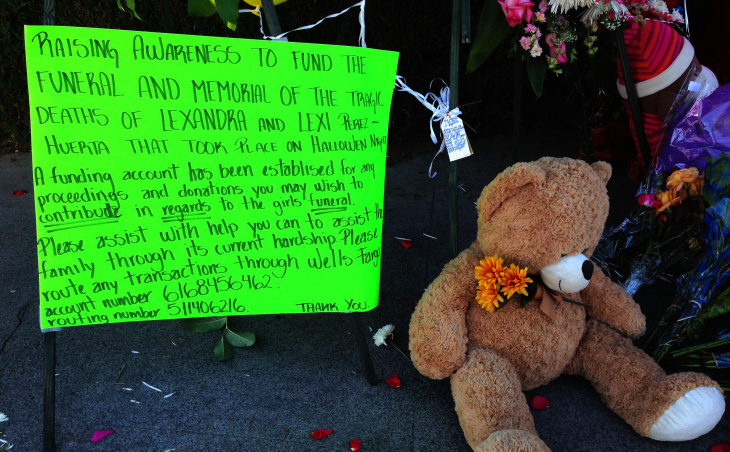 Lexi and Lexandra Perez were crossing Fairhaven and Grand Avenue Friday night with their 13-year-old friend Andrea Gonzalez when they were struck and killed by an SUV.
