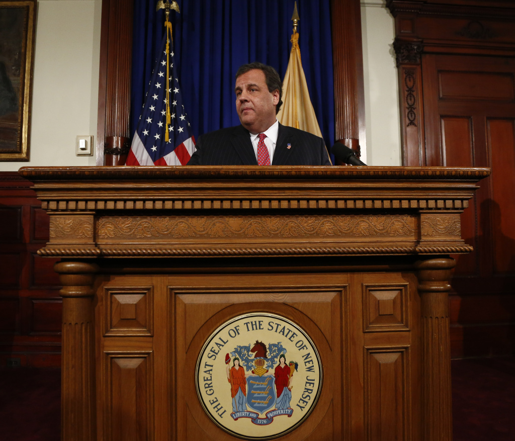 New Jersey Gov. Chris Christie speaks about his knowledge of a traffic study that snarled traffic at the George Washington Bridge during a news conference on January 9, 2014 at the Statehouse in Trenton, New Jersey.