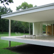 The Farnsworth House, located in Plano, Illinois, was designed by Mies van der Rohe in 1945.
