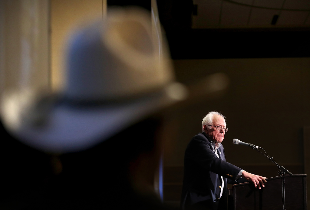 U.S. Sen. Bernie Sanders (I-VT) speaks during a campaign rally for democratic U.S. Congressional candidate Rob Quist on May 21, 2017 in Bozeman, Montana.