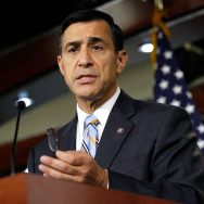 Darrell Issa in snowy New Hampshire
