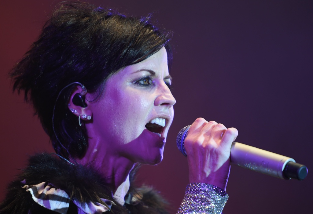 Dolores O'Riordan of Irish band The Cranberries performs on stage during the 23th edition of the Cognac Blues Passion festival in Cognac on July 07, 2016.