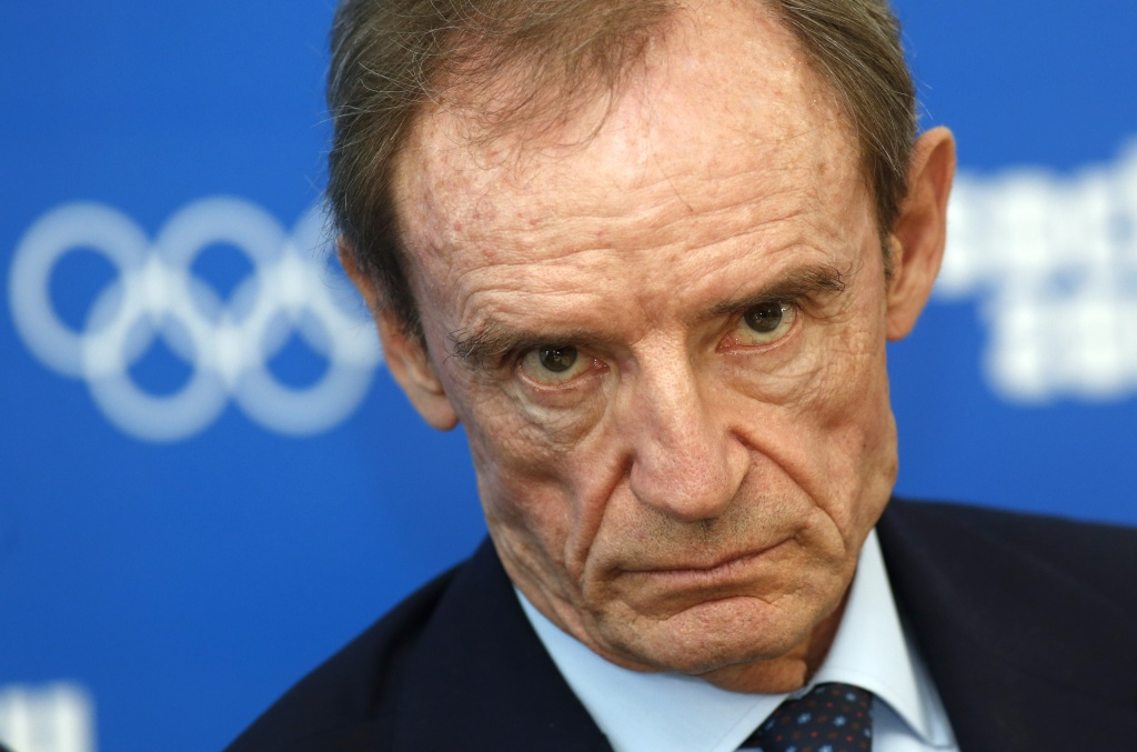 "Chairman of the IOC Coordination Commission for Sochi 2014, Jean-Claude Killy, listens to questions,  during a news conference in Sochi, Russia, Thursday, Sept. 26, 2013. The International Olympic Committee says it is ""fully satisfied"