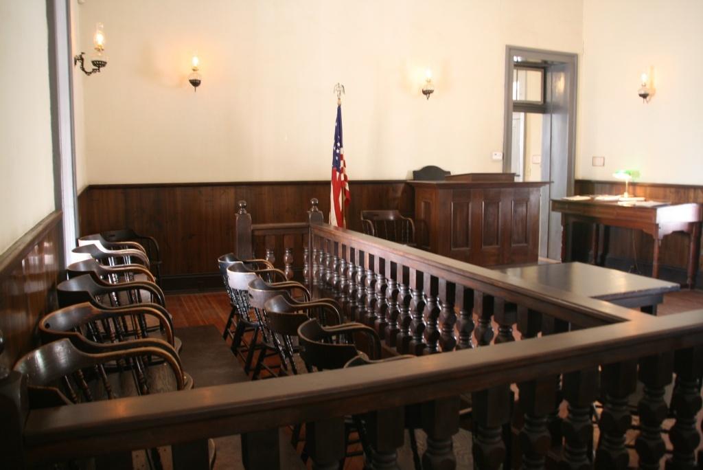 A jury box is shown.