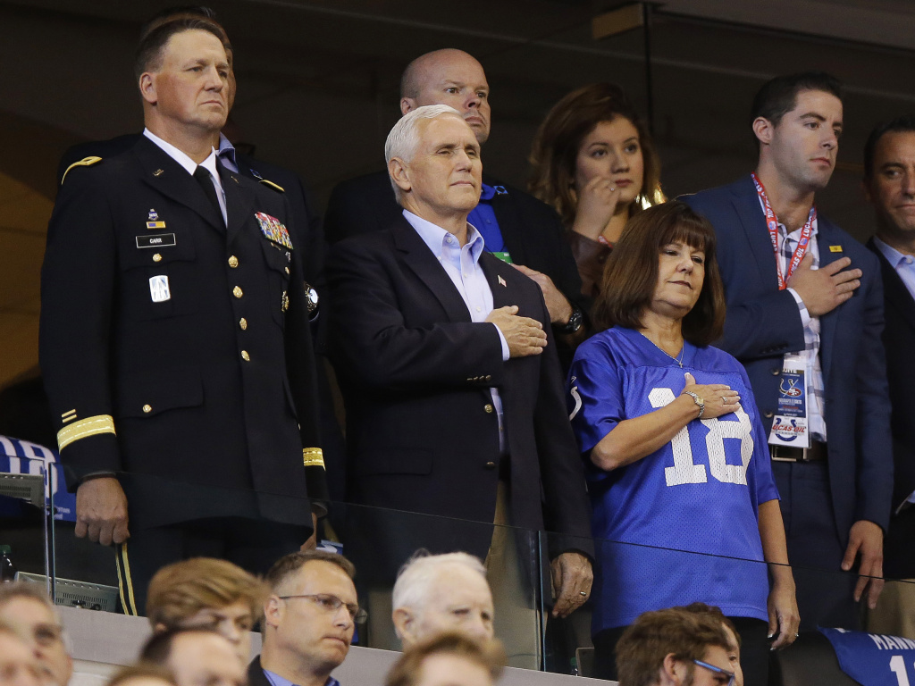Mike Pence Leaves NFL Game in Protest