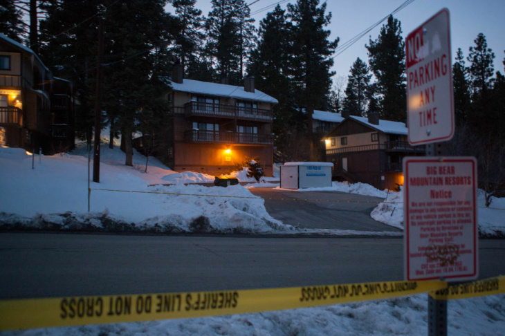 The condo where murder suspect Christopher Dorner reportedly hid from police near Bear Mountain Ski Resort.